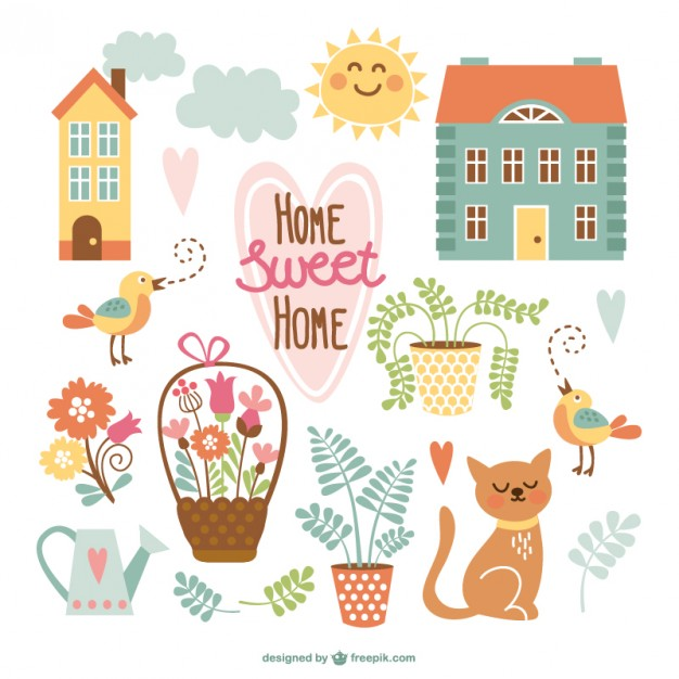 626x626 Home Sweet Home Cute Cartoons Vector Free Download