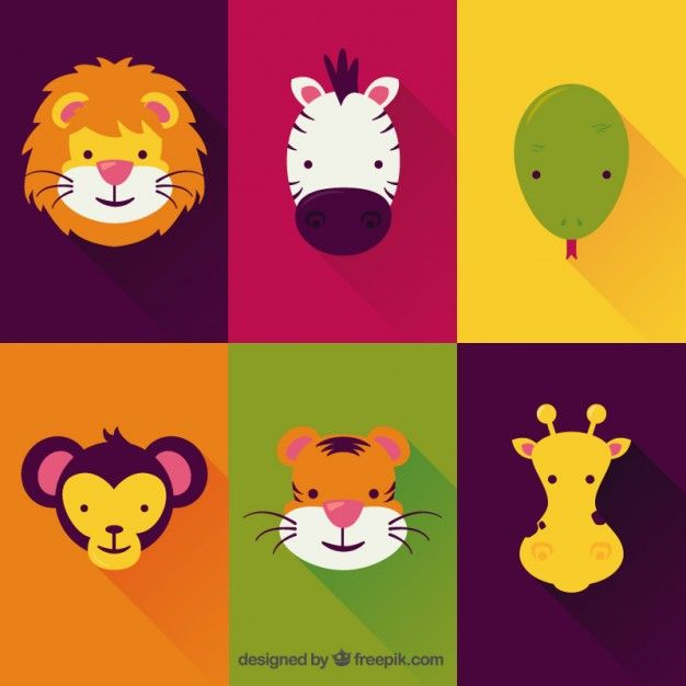 626x626 Animais Bonitos Game Design Lions, Illustrations