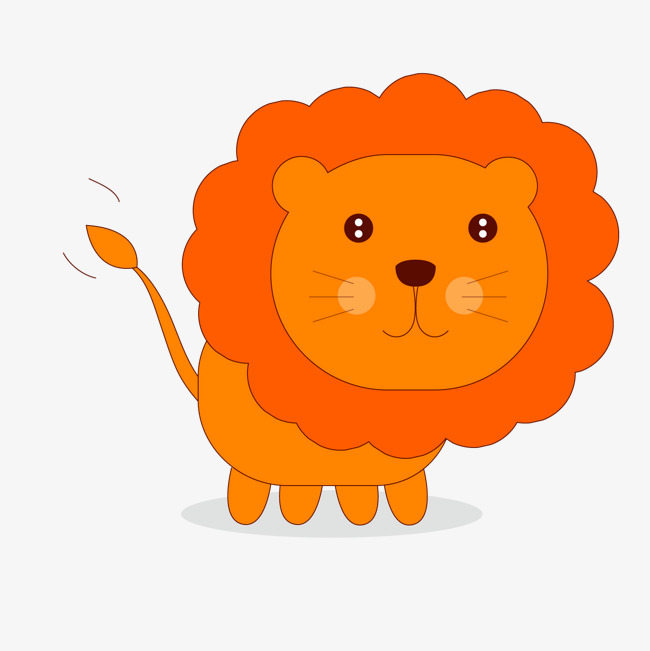 650x651 Cute Cartoon Lion Vector Material, Cartoon Vector, Lion Vector