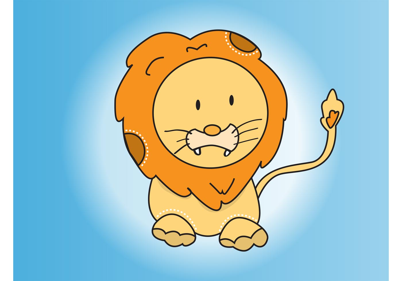 1400x980 Cute Lion Free Vector Art
