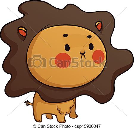 450x434 Cute Baby Lion. Vector Illustration Of A Cartoon Baby Lion.