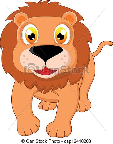 369x470 Cute Lion . Vector Illustration Of Cute Lion.