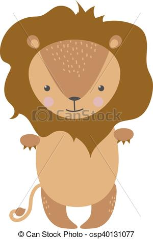 300x470 Cute Lion Cartoon Vector Illustration. Zoo Wild Cartoon Lion