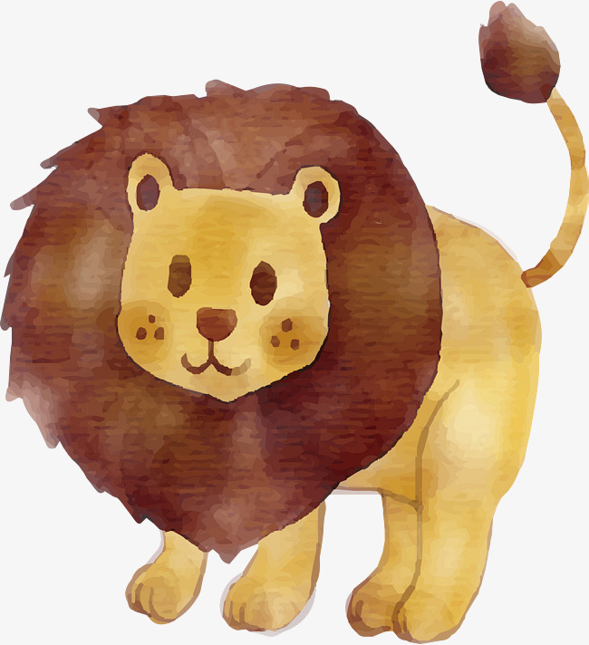 650x712 Hand Painted Cute Lion, Hand Vector, Lion Vector, Cute Clipart Png