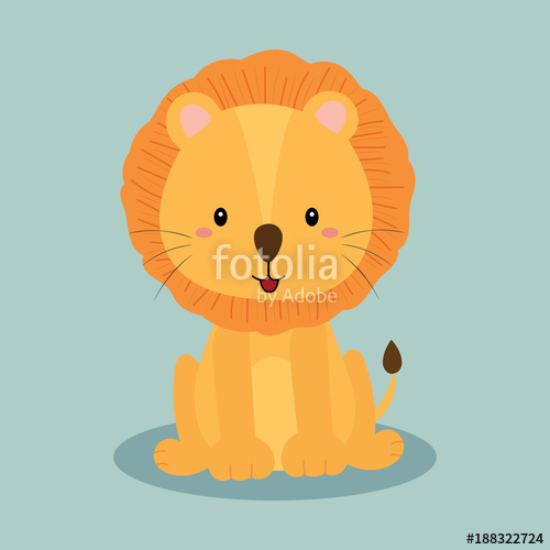 500x500 Cute Lion Vector Stock Image And Royalty Free Vector Files On