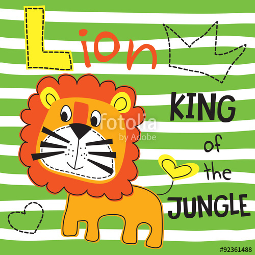 500x500 Cute Lion Vector Illustration Stock Image And Royalty Free Vector