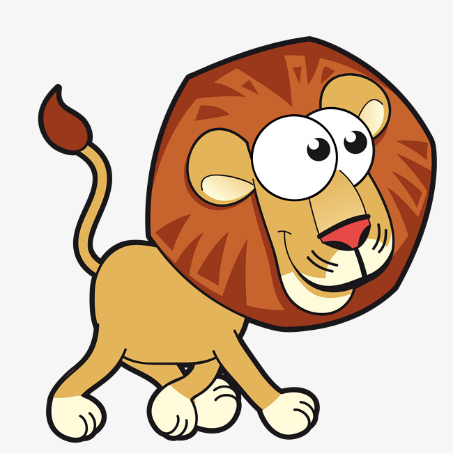 650x651 Cute Cartoon Lion Vector, Cartoon Clipart, Lion Clipart, Cute Lion