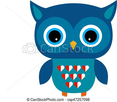 450x393 Cute Owl Vector Boy With Heart. Cute Owl Vector Boy Character With