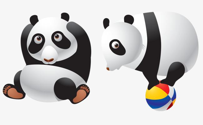 650x400 Panda Cartoon Vector, Cute Panda, Vector, Giant Panda Png And