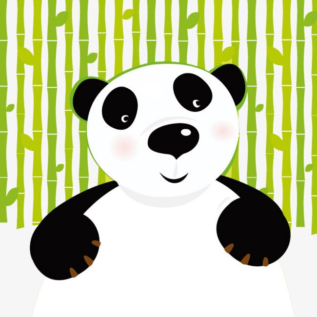 650x650 Simple And Honest Cute Panda Vector Material, Panda Vector, Panda