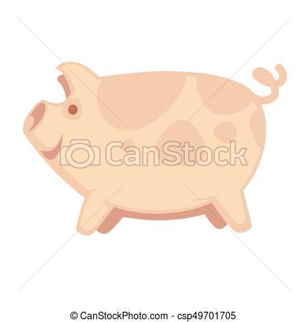 450x470 Cute Big Pig. Vector Illustration Of Big Cute Piglet... Vector