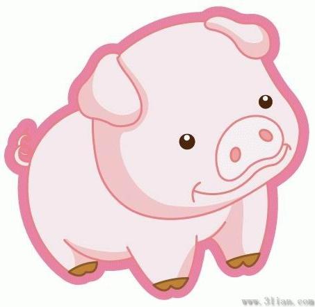 453x442 Cute Cartoon Pig Vectors Free Vector In Adobe Illustrator Ai ( .ai