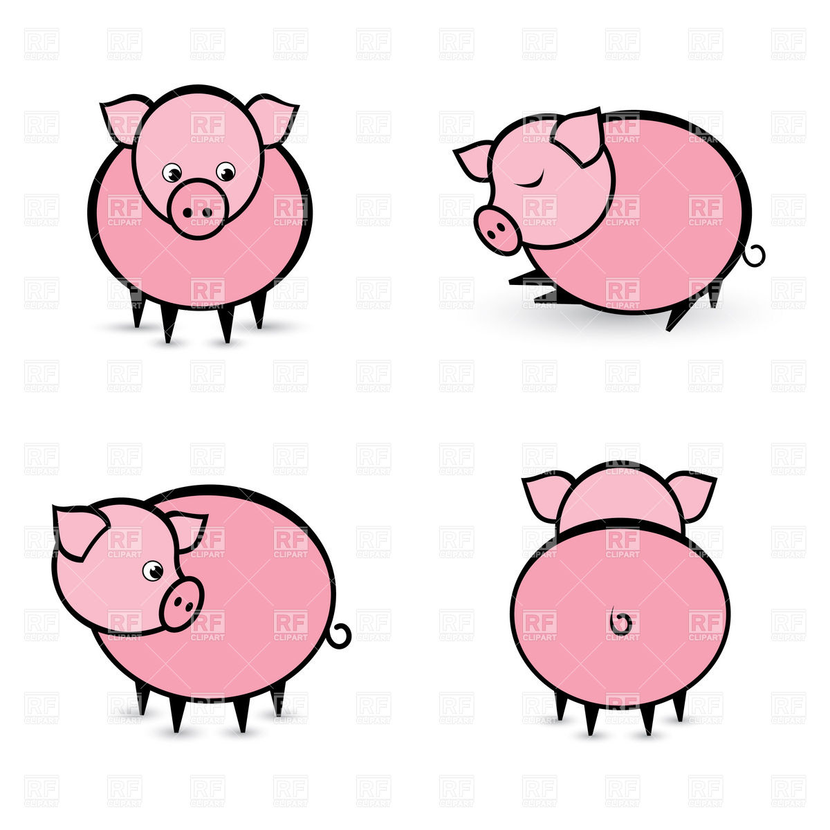 1200x1200 Funny Pigs Vector Image Vector Artwork Of Plants And Animals