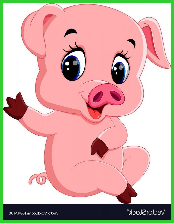 1040x1332 Inspiring Cute Pig Cartoon Posing Royalty Vector Image Of Piggy