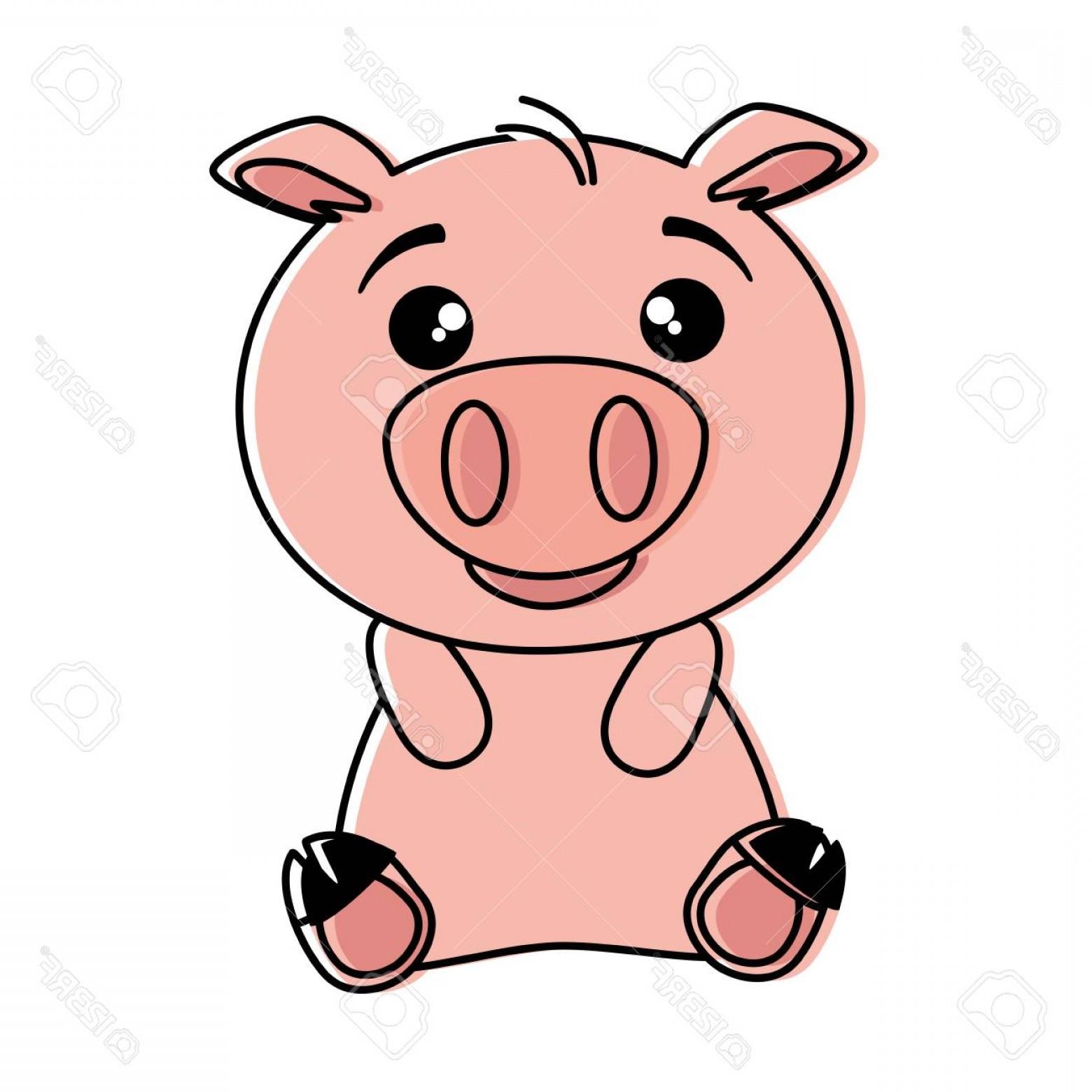 1560x1560 Photostock Vector Cute Pig Emoji Kawaii Vector Illustration Design