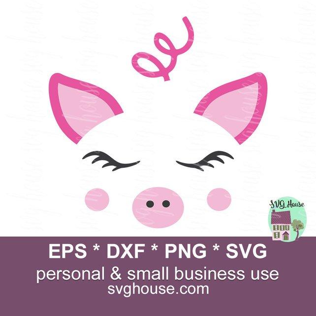 642x642 Pig Face Svg Pig Face Dxf Pig Clipart Pig Vector Pig Shirt Etsy