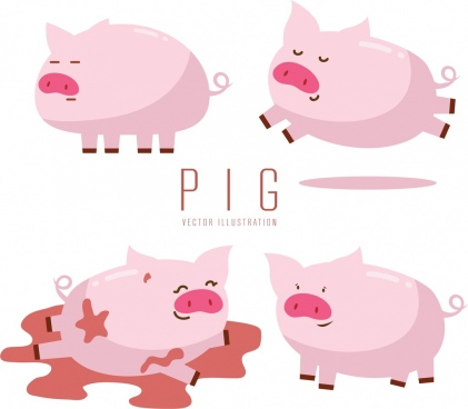 421x368 Pig Vectors Free Vector Download (308 Free Vector) For Commercial