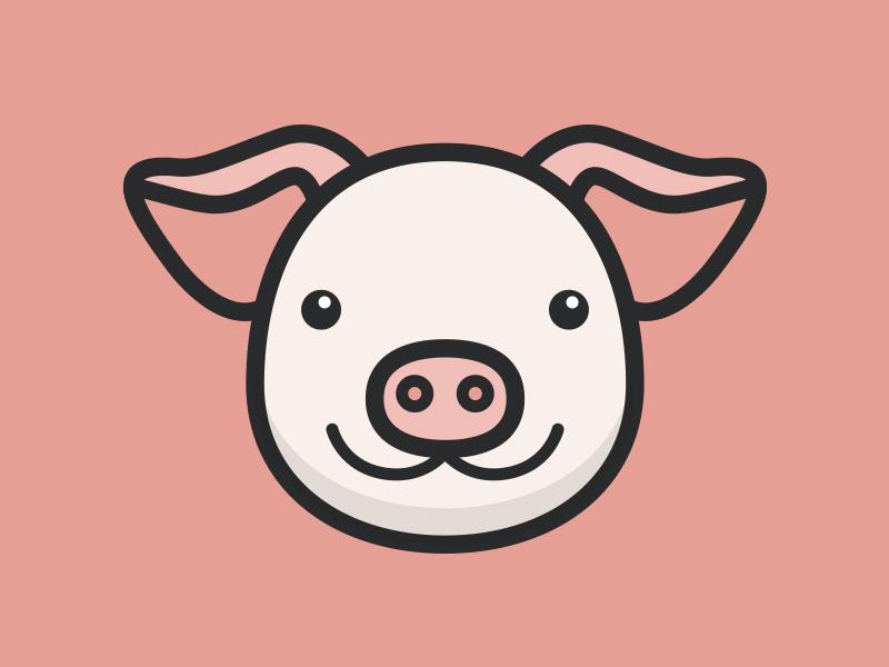 800x600 Cute Pig Vector Face By Tony Thomas