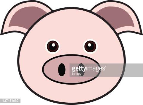 482x355 Cute Pig Vector Premium Clipart