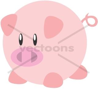 320x290 Cute Round Pig Cartoon