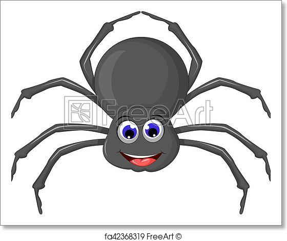 560x470 Free Art Print Of Cute Spider Cartoon. Vector Ilustration Of Cute