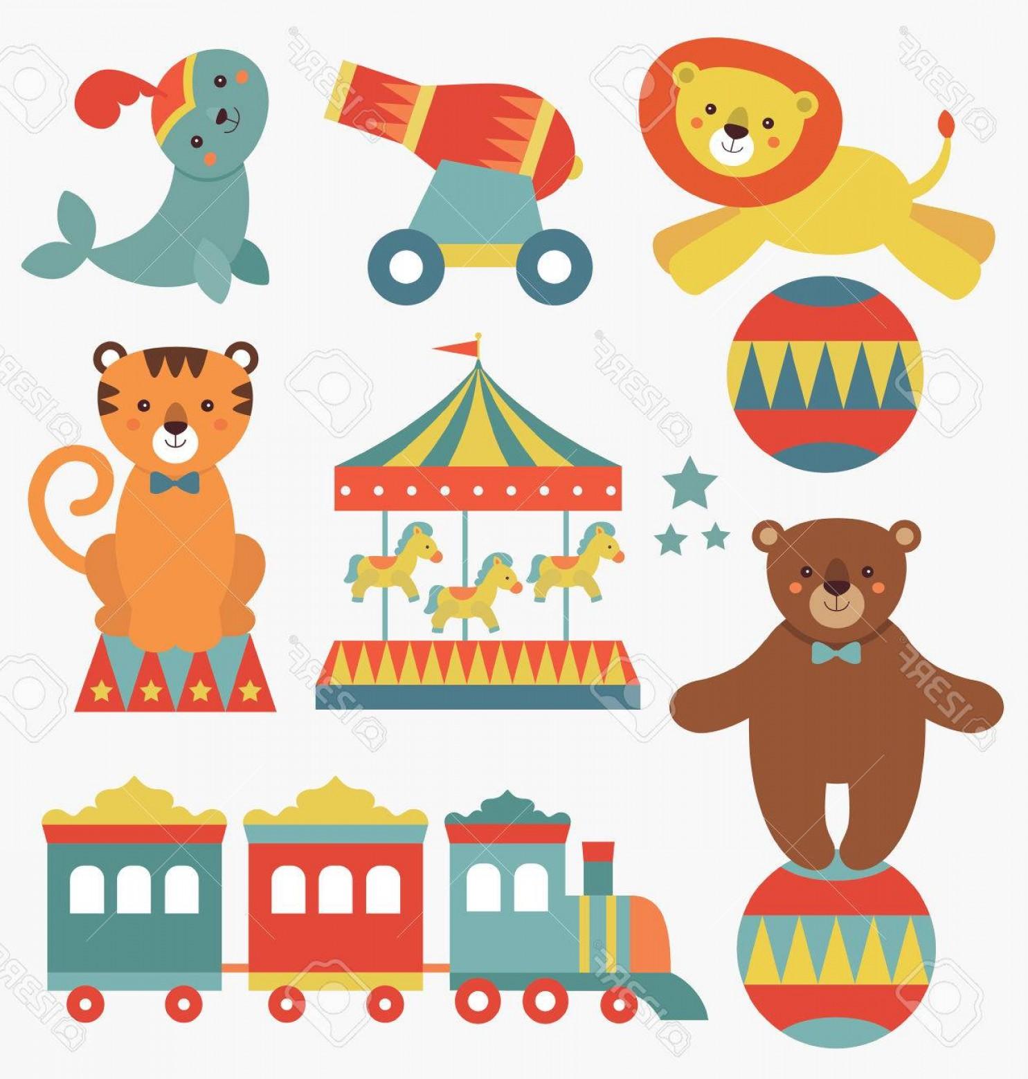 1485x1560 Cute Vector Art Circus Circus Shopatcloth
