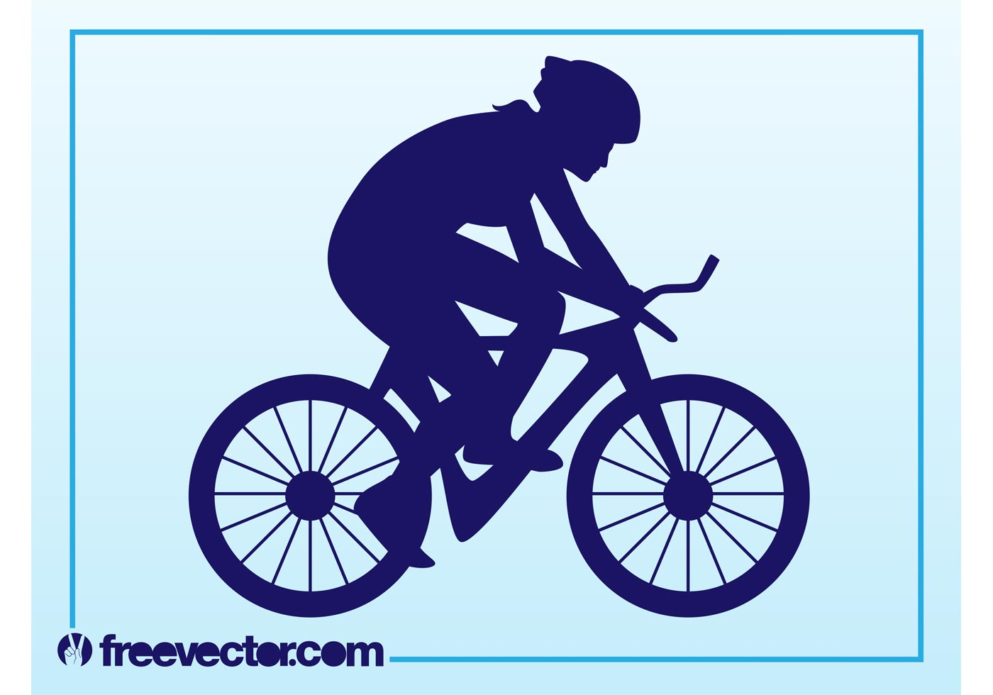 1400x980 Cyclist Free Vector Art
