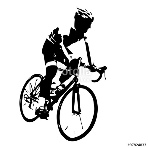 500x500 Cyclist Silhouette. Bicycle Racing Stock Image And Royalty Free