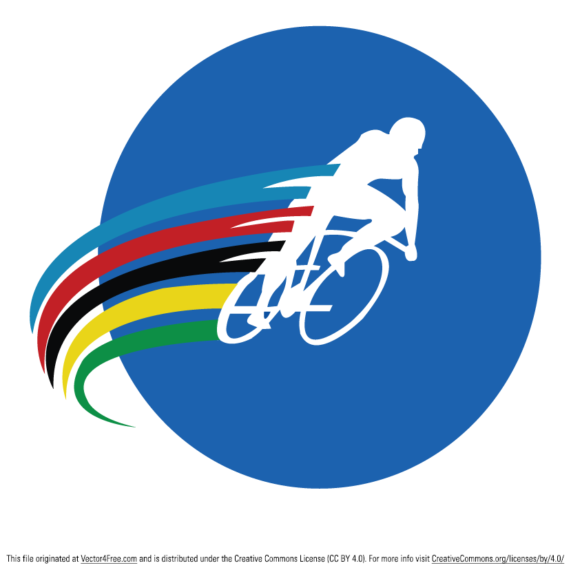 829x831 Free Cyclist Vector Logo
