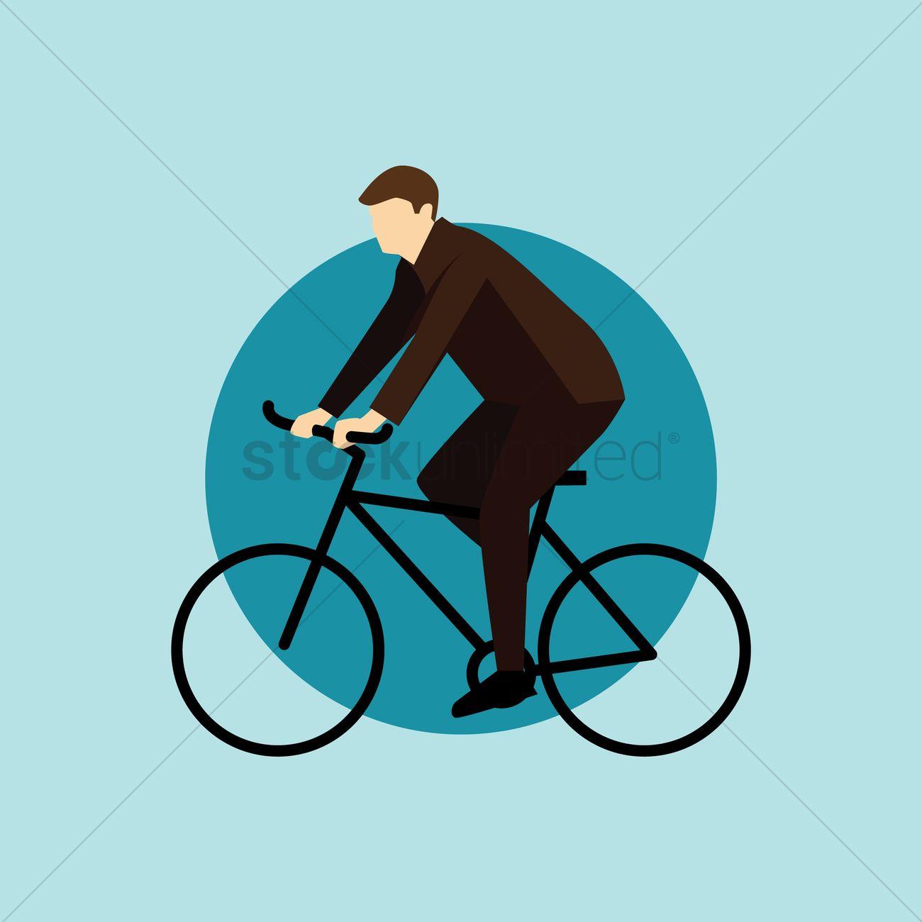 1300x1300 Man Cycling Vector Image