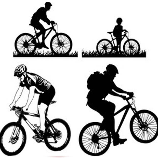 620x620 Mountain Cycling Vector Free Download