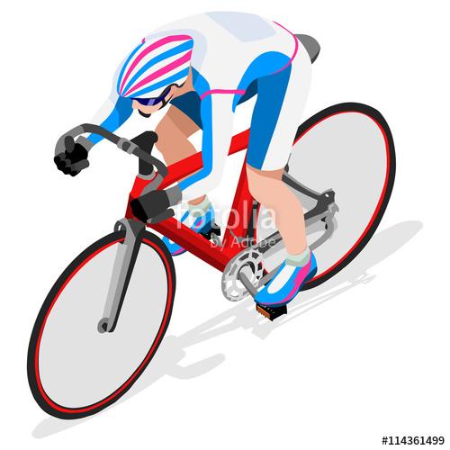 500x500 Olympics Track Cyclist Bicyclist Athlete Summer Games Icon Set