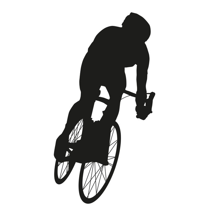 700x700 Vector Cyclist. Road Cycling Wall Mural We Live To Change