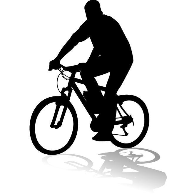 660x660 Cyclist Vector Silhouette