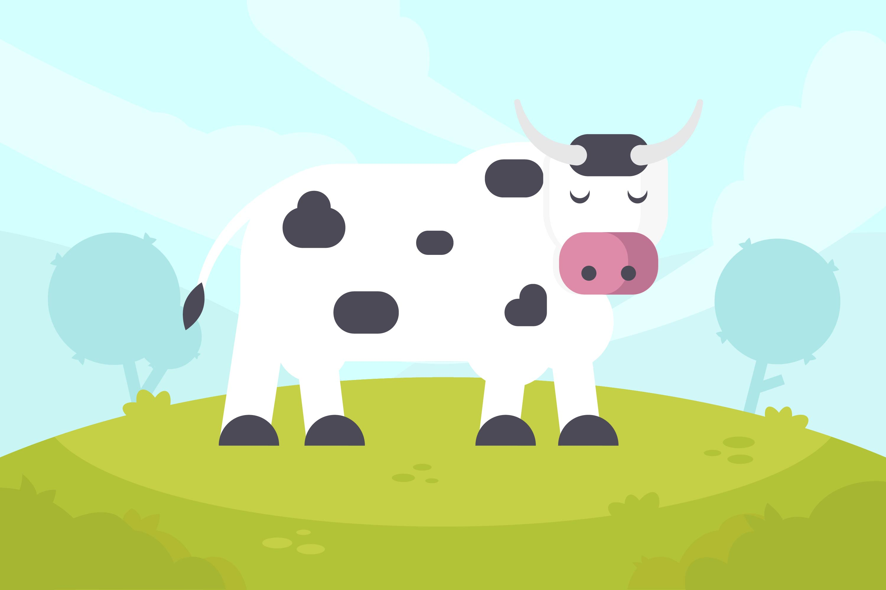 3000x2000 Dairy Cattle Free Vector Art
