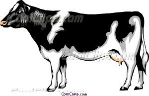 300x193 Dairy Cow Vector Clip Art