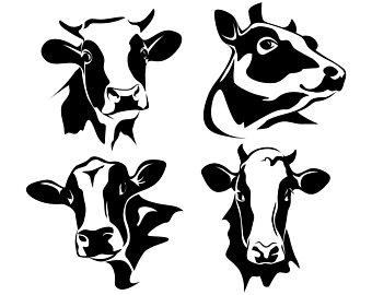 340x270 Dairy Cow Vector Etsy