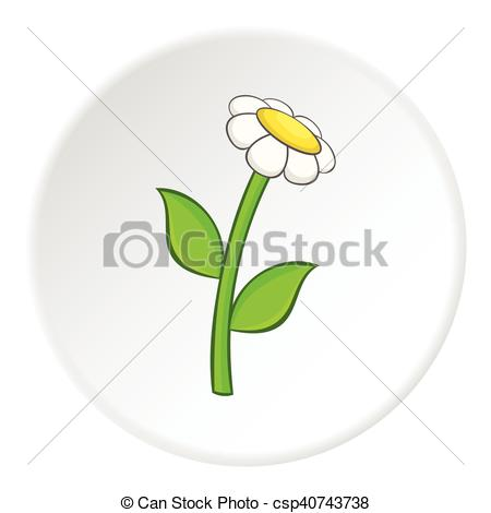 450x470 Daisy Icon, Cartoon Style. Daisy Icon. Cartoon Illustration Of