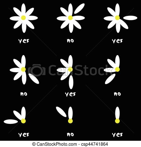 450x470 Flower Love Nature Remove No Yes Daisy. Scalable Vectorial Image