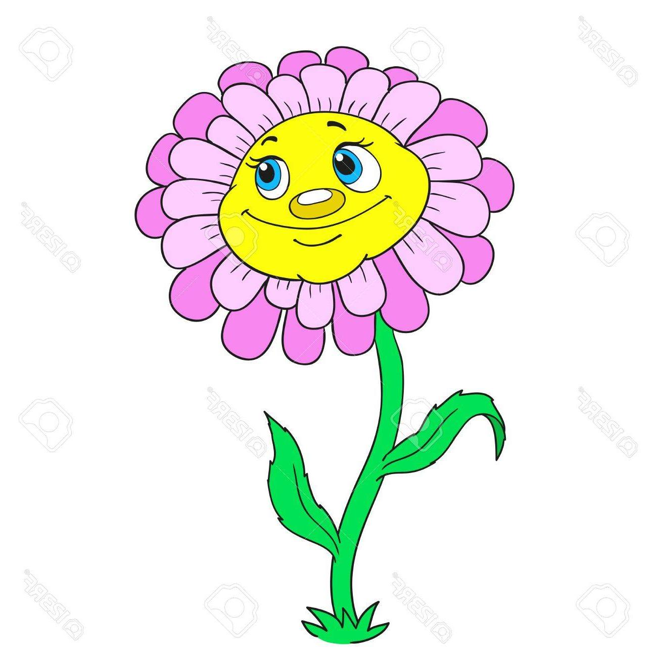 1300x1300 Best Cartoon Daisy With Stem Vector Photos Free Vector Art