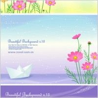 200x200 4 Cute Little Daisy Background Vector Vector Background