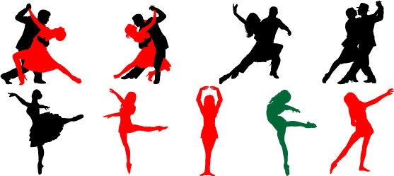557x249 Dance Of Dancing People Vector Free Vector Download In .ai, .eps