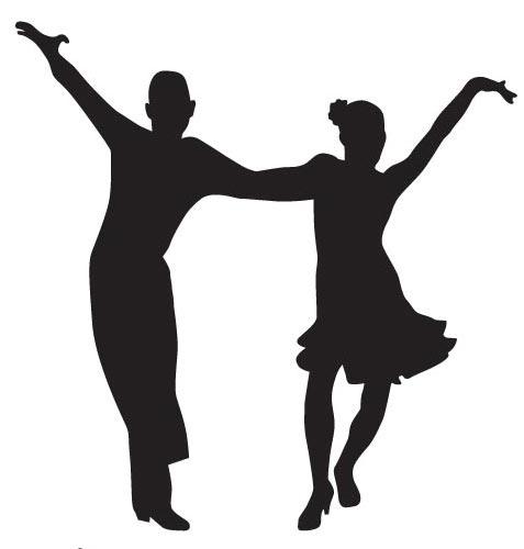477x500 Dancing Tango Silhoutettes Vector