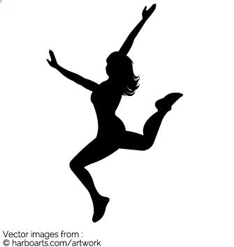 335x355 Download Dance Jump Silhouette