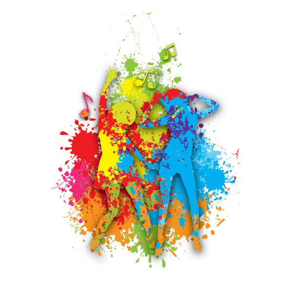 600x600 Colorful Dance Free Vector Graphic Download