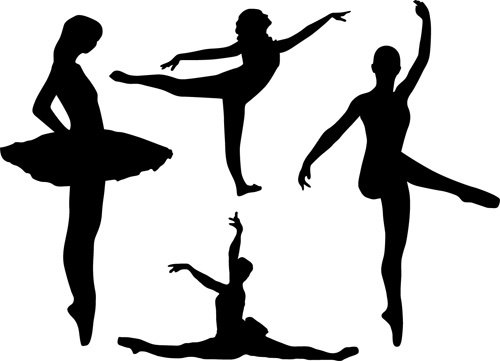 500x361 Dancing Girl Silhouette Vector Free Vector In Encapsulated