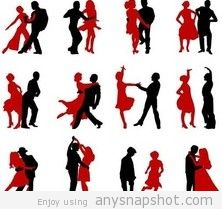222x209 Dancing Silhouettes Free Vector