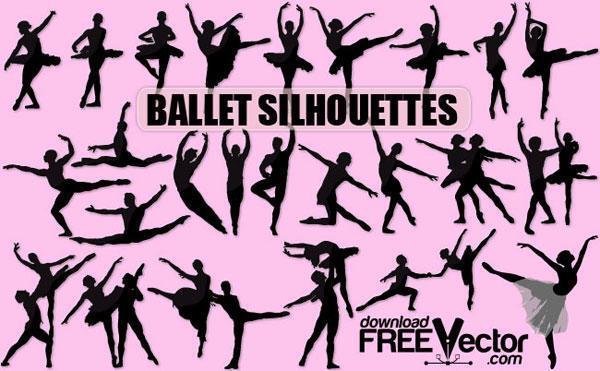 600x371 Ballet Dancer Silhouette Vector Free 123freevectors