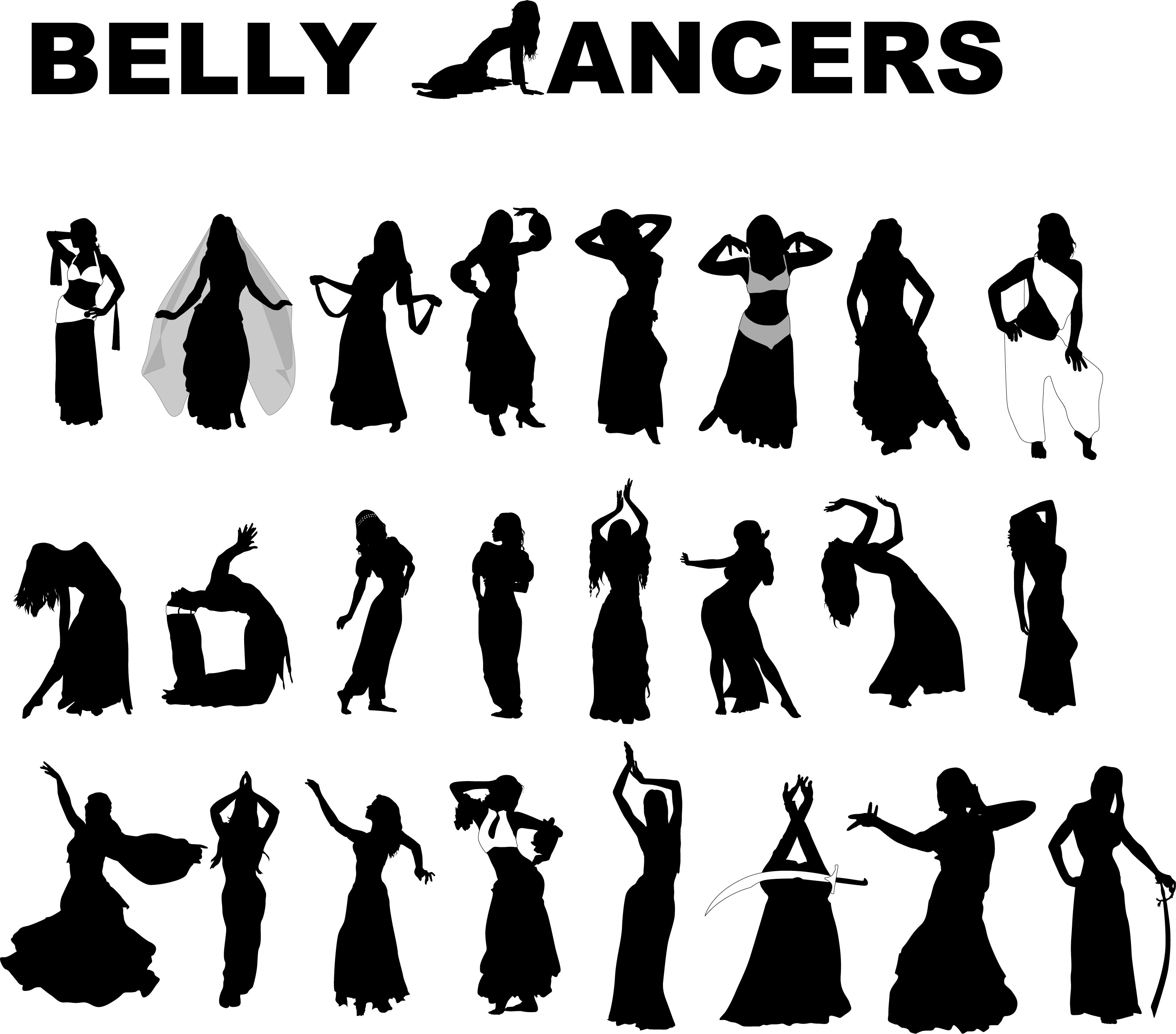 2948x2592 Belly Dancers 25 Free Vector Silhouettes