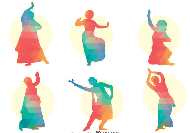 632x443 Colorful Bollywood Dance Vector Set Free Vector Download 405061